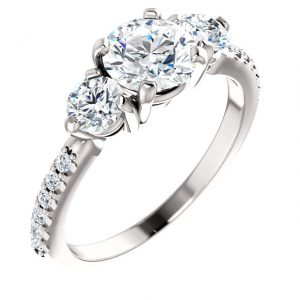 Jonathan-Buckhead-Wedding-Engagement-3-Stone-Ring-with-Diamond-Shank