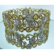 Vintage-Yellow-White-Diamond-Bracelet-Jonathan-Buckhead-Estate