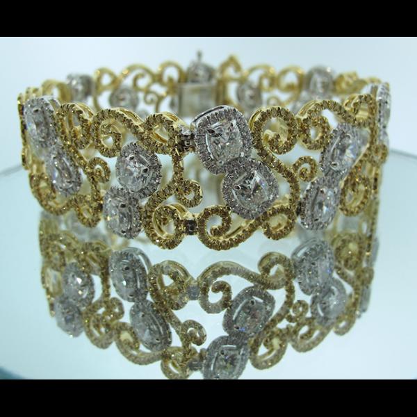 Vintage Yellow White Diamond Bracelet – JonathanBuckhead